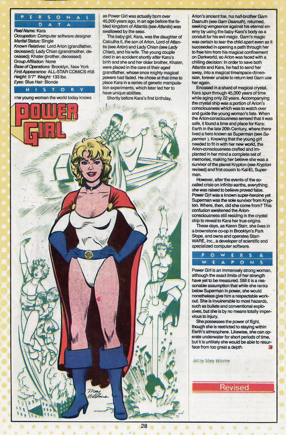 Power Girl Who's Who by Mary Wilshire
