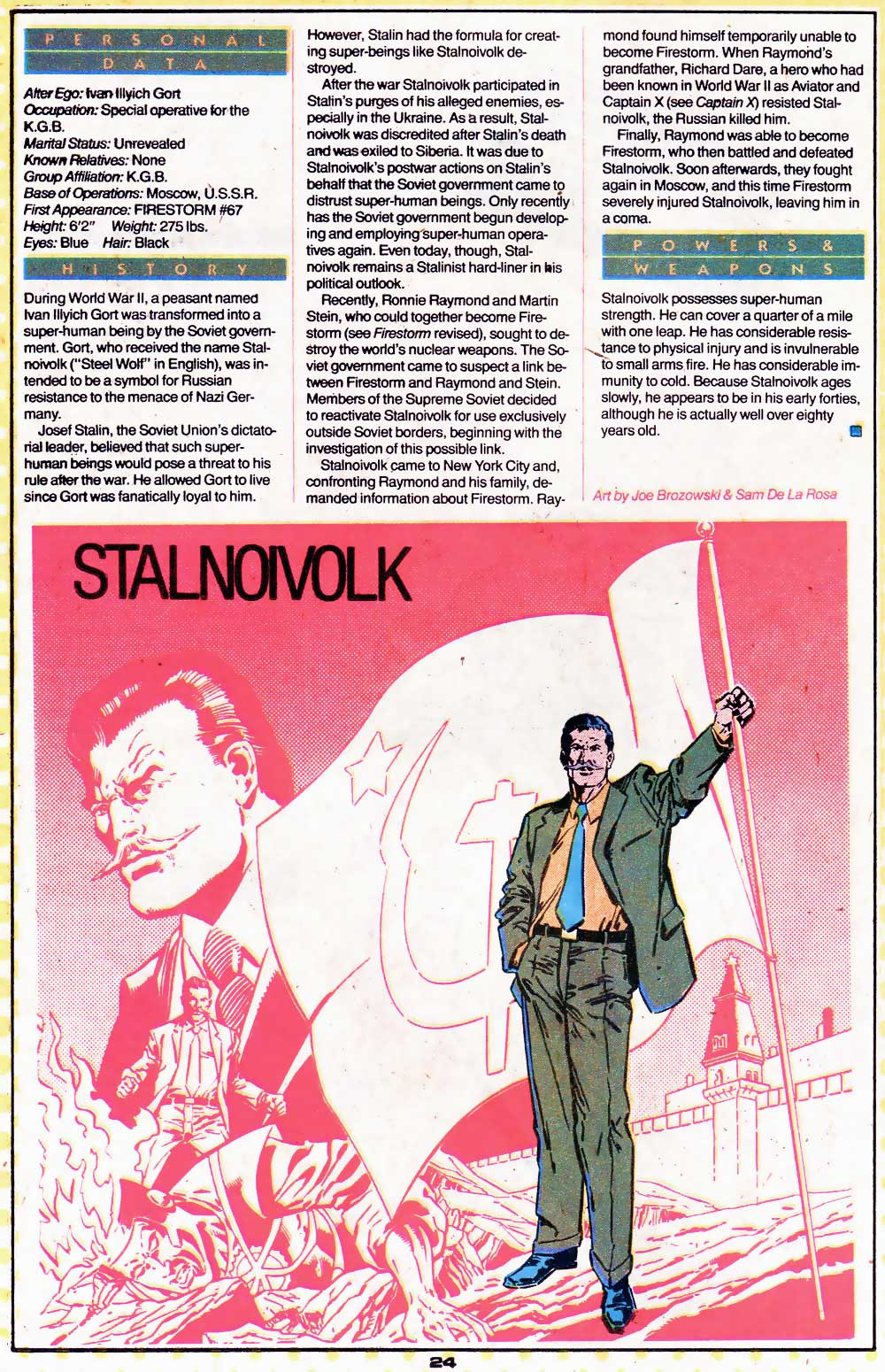 Who's Who Update 88 Stalnoivolk by Joe Brozowski and Sam De La Rosa