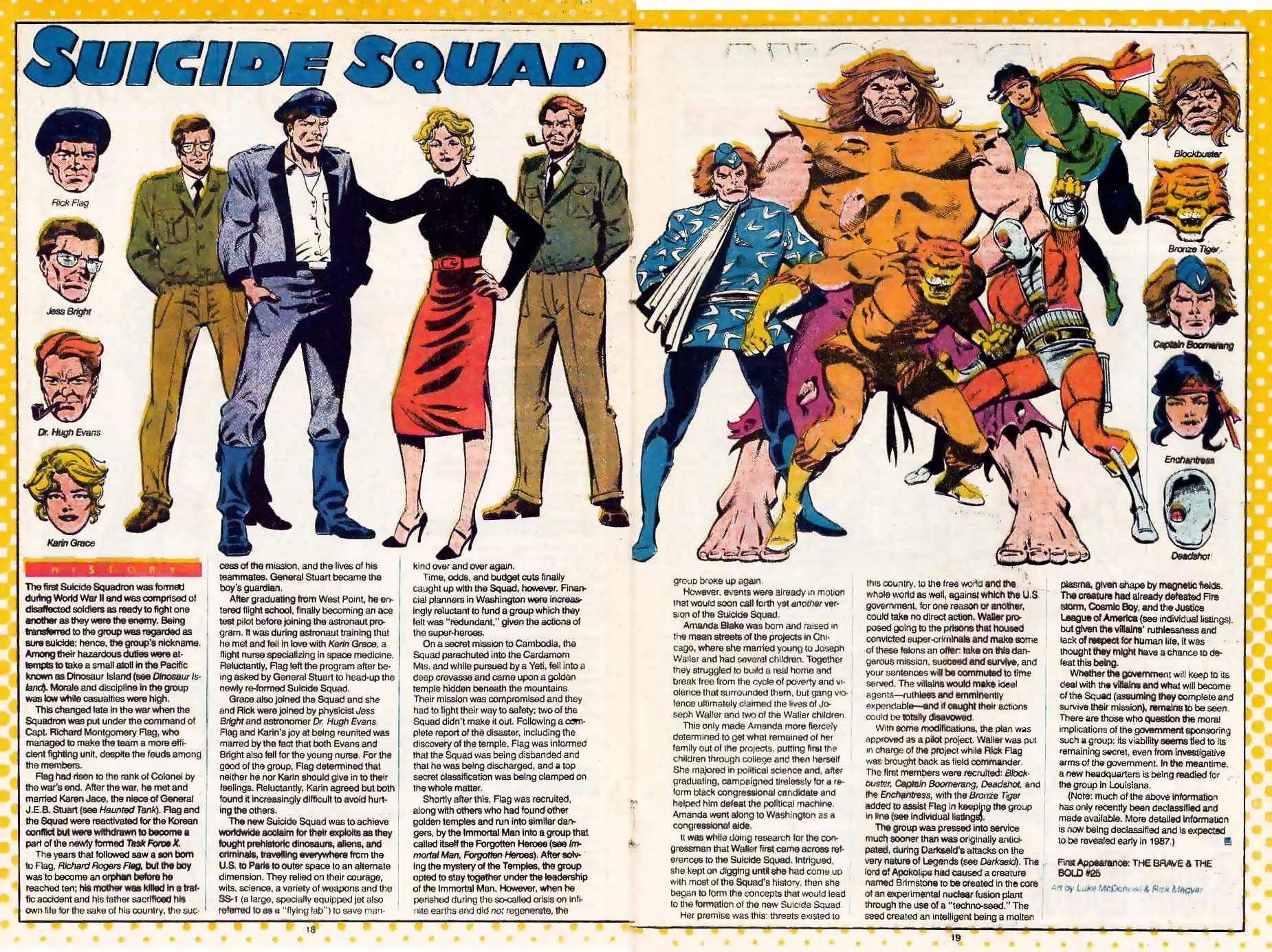 Who's Who Suicide Squad by Luke McDonnell & Rick Magyar