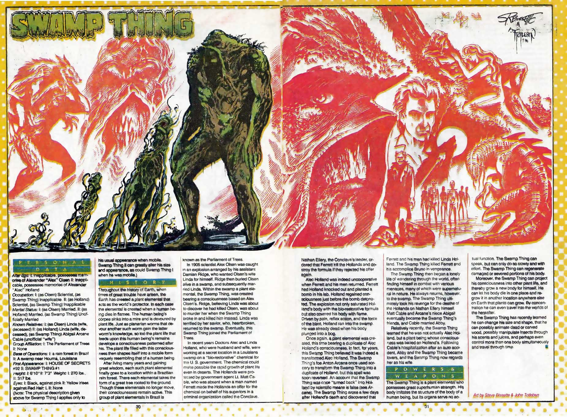 Who's Who Swamp Things Steve Bissette and John Totleben