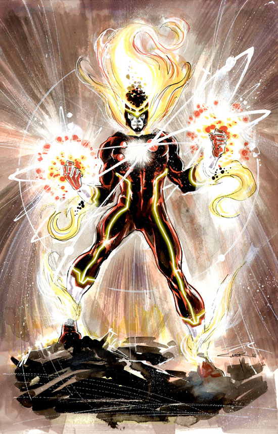 Yildiray Cinar's first pitch for the New 52 Firestorm on Tumblr
