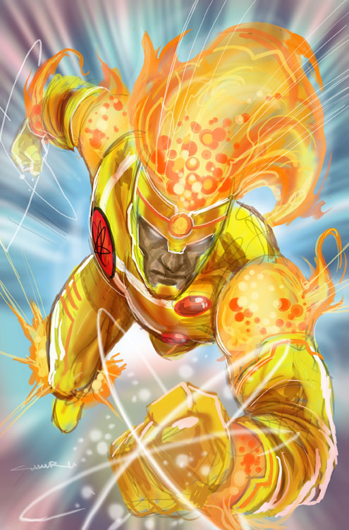 Yildiray Cinar draws Jason Rusch as Firestorm! A completely digital drawing done back in December 2011.