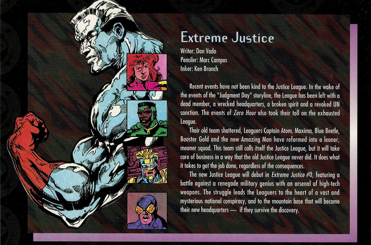 Extreme Justice from Wizard Magazine Zero Hour Special