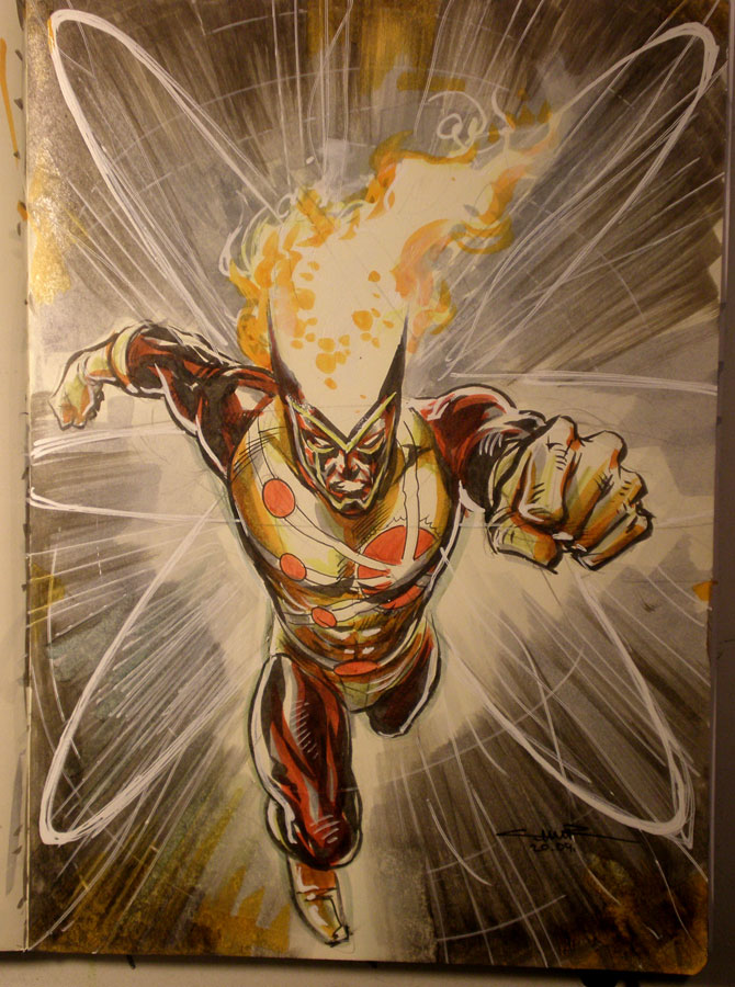 Yildiray Cinar Firestorm Sketch - Jason Rusch first costume